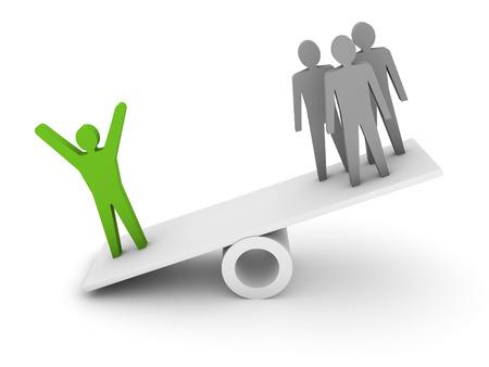 La profesionalidad, la metáfora competencia. Ilustración del concepto 3D. Foto de archivo - 26860609