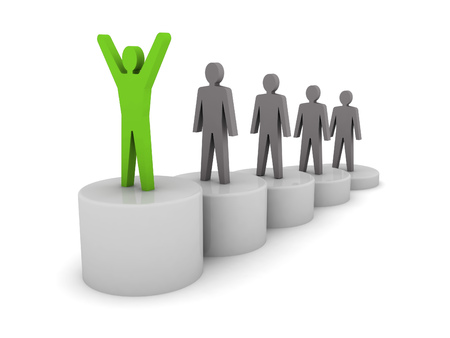 Steps to success. Ladder of success. Concept 3D illustration. illustration