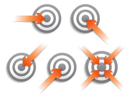 targets: Targets and arrows. Vector illustration. Illustration