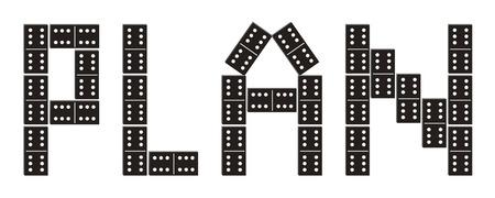 dominoes: Word Plan made of dominoes