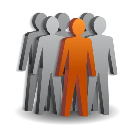 teamleider: Teamleider Illustratie.