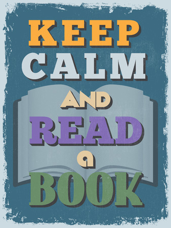 Retro Vintage Motivational Quote Poster.  Illustration