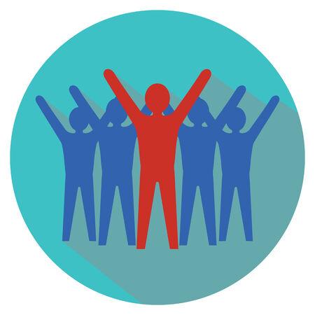 team success: Leadership concept. Team success.