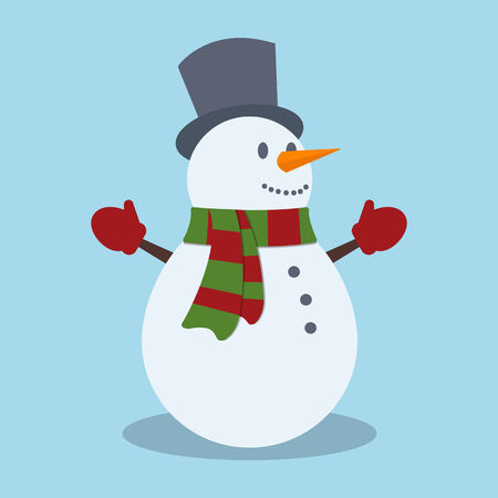 snowman vector: Snowman. Christmas design. Vector illustration Illustration