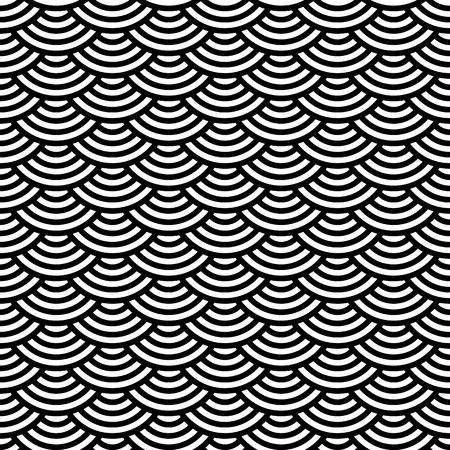 scaly: Abstract geometric seamless pattern. Scaly ornament. Vector Illustration