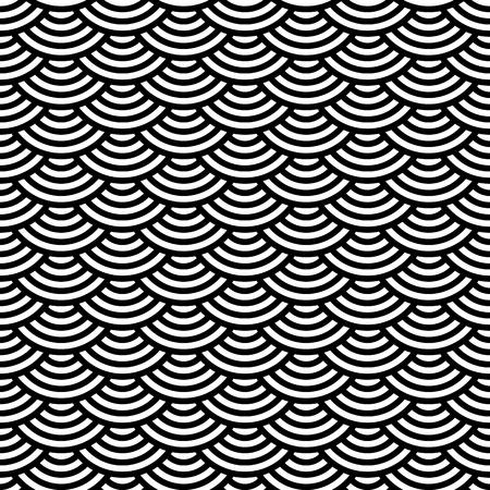 com escamas: Teste padr�o sem emenda geom�trico abstrato. Ornamento escamosa. Ilustra��o vetorial Ilustra��o