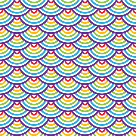 scaly: Abstract geometric seamless pattern. Colorful scaly ornament. Vector Illustration