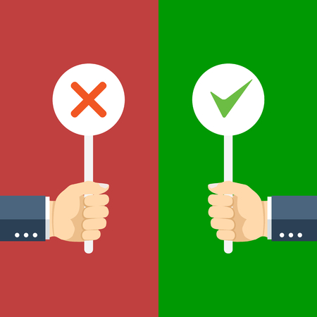 quality: Positive and negative feedback concept. Vector illustration