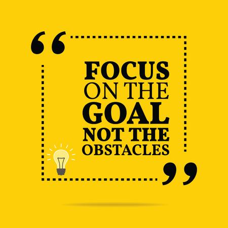 Inspiráló motivációs árajánlatot. Fókuszban a cél nem az akadályokat. Egyszerű trendi design.