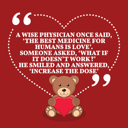 a physician: Inspirational love marriage quote. Simple trendy design.