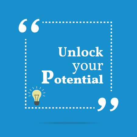 unlock: Inspirational motivational quote. Unlock your potential. Simple trendy design. Illustration
