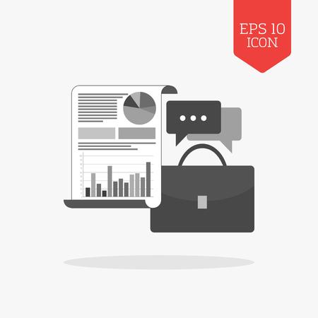 adviser: Business adviser concept icon. Flat design gray color symbol. Modern UI web navigation, sign. Illustration element