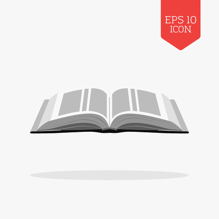 open bible: Open bible icon. Flat design gray color symbol. Modern UI web navigation, sign. Illustration element Illustration