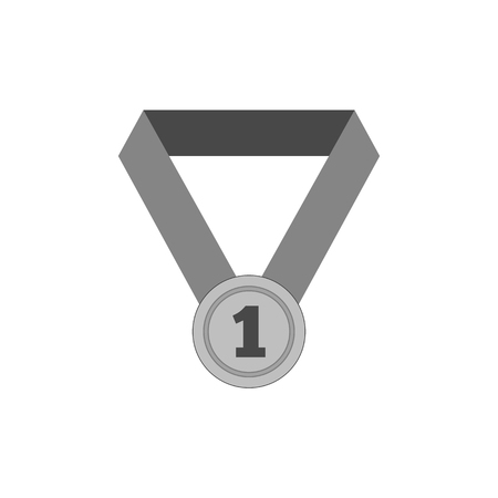 First place medal icon. Symbol in trendy flat style isolated on white background. Illustration element for your web site design, , app, UI.