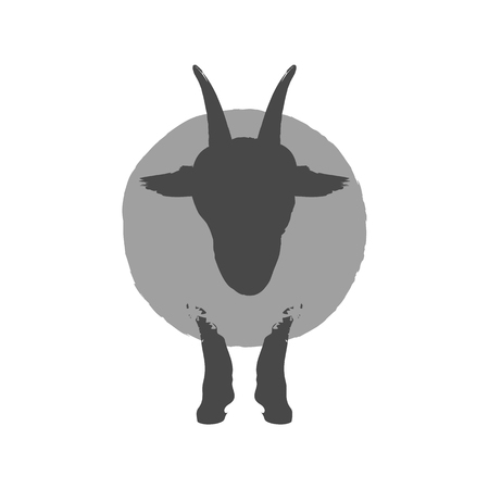 Sheep icon. Symbol in trendy flat style isolated on white background. Illustration element for your web site design, logo, app, UI. Stock Photo