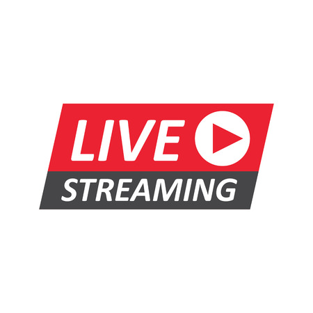 Live Stream sign, emblem, logo. Vector Illustration Vettoriali