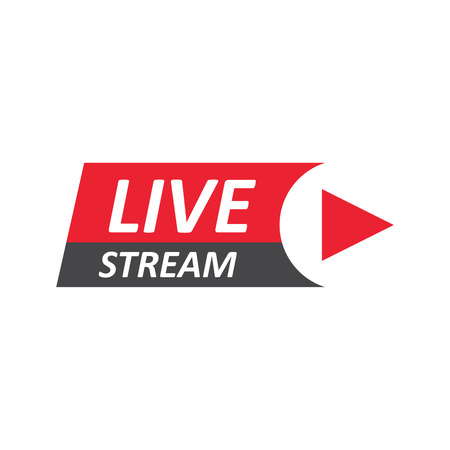 Live Stream sign, emblem, logo. Vector Illustration Иллюстрация