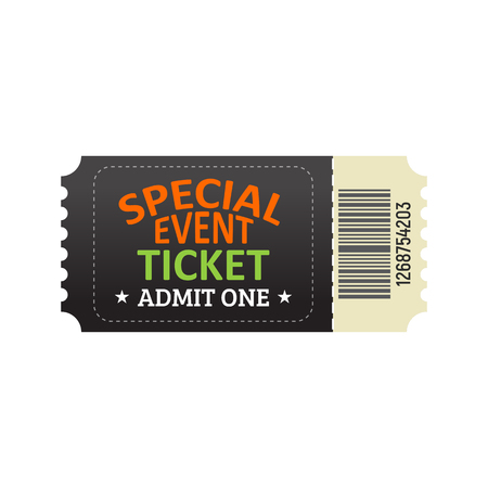 Ticket template for entrance a special event.