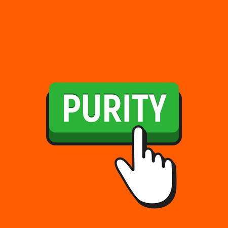 Hand Mouse Cursor Clicks the Purity Button