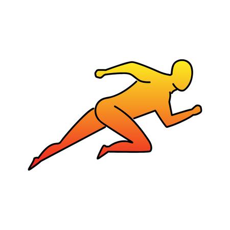 Laufender Mann-Symbol. Energie- und Wettbewerbskonzept Vektorgrafik