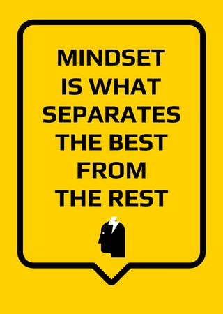 Motivational poster. Mindset is What Separates the Best From the Rest. Home decor for good self-esteem. Print design. Reklamní fotografie - 133543279