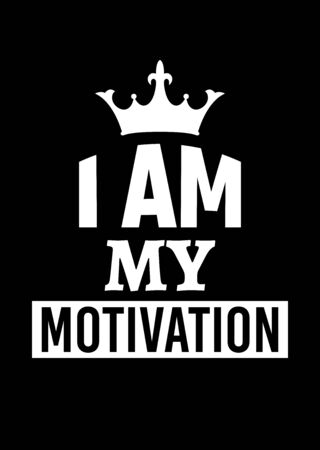 Motivational poster. I am My Motivation. Home decor for good self-esteem. Print design. Reklamní fotografie - 133543838