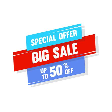 Sale banner template design. Special offer concept. Colourful style