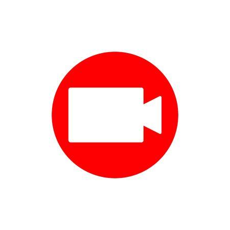 Video recording sign. Symbol of making video for social media, start live performance