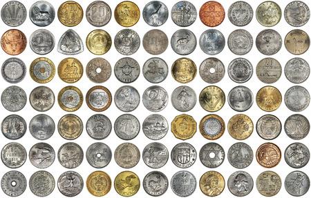 Un Collage De Monedas De Diferentes Países Y Temas Monedas Antiguas Sobre Un Fondo Blanco Fotos Retratos Imágenes Y Fotografía De Archivo Libres De Derecho Image 67976054