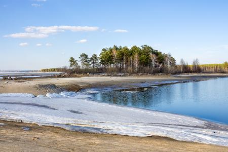 siberia: Spring landscape. The river Ob, Novosibirsk oblast, Siberia, Russia