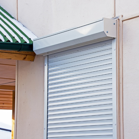 window opening: Shutters. Multifunctional protection of the window opening Stock Photo