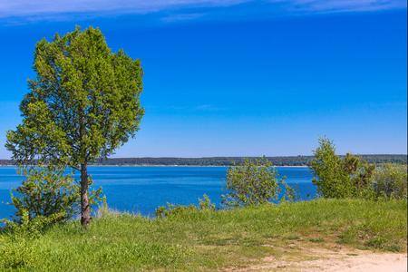 City Park on the river Berd spit. The river Berd, Berdsk, Novosibirsk oblast, Siberia, Russia
