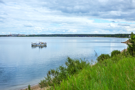 City Park Berd spit on the confluence of the rivers Berdi and Obi. Berdsk, Novosibirsk oblast, Siberia, Russia