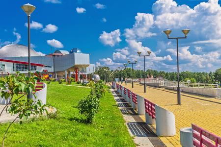 Key kamyshinskoe plateau, Novosibirsk, Siberia, Russia - August 2, 2017: the Large Novosibirsk planetarium. Parkland planetarium free visit