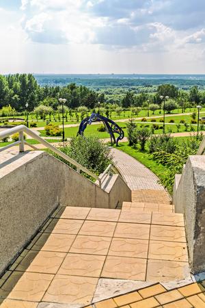 astrophysical: Key kamyshinskoe plateau, Novosibirsk, Siberia, Russia - August 2, 2017: the Large Novosibirsk planetarium. Parkland planetarium free visit