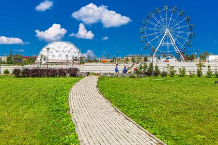 astrophysical: Key kamyshinskoe plateau, Novosibirsk, Siberia, Russia - August 2, 2017: the Large Novosibirsk planetarium. Astronomical Park