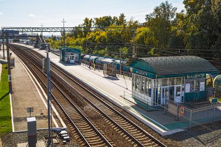 ロシア、シベリア、ノボシビルスクの都市-9 月17日、2017: ノボシビルスク「センター」の街の駅