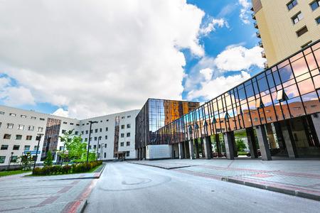 Novosibirsk, Western Siberia, Russia - June 2, 2018: Novosibirsk state University (NSU). New building