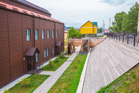 Suzun, Novosibirsk region, Western Siberia, Russia-July 21, 2018: Museum and tourist complex Suzun-Zavod. Mint