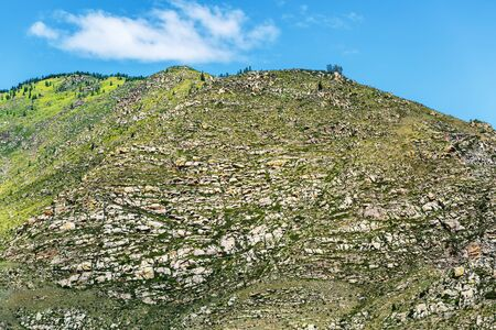 The views of the mountain ranges in Cardona Kur - Quechua. Ongudai district, Altai Republic, South Siberia, Russia