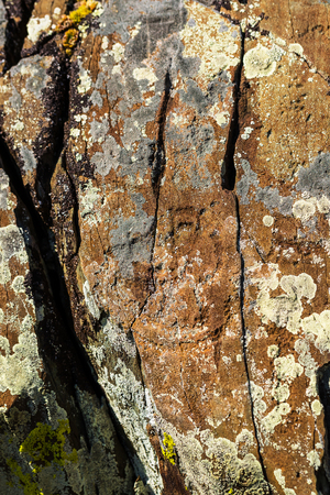 Petroglyph complex kalbak - Tash (ritual sanctuary), Ongudai district, Altai Republic, Russia - July 15, 2019: rock paintings