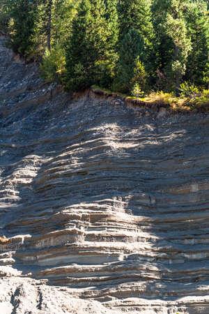 Sand quarry near the iogach river. Turochaksky district, South of Western Siberia, Altai Republic, Russia 版權商用圖片