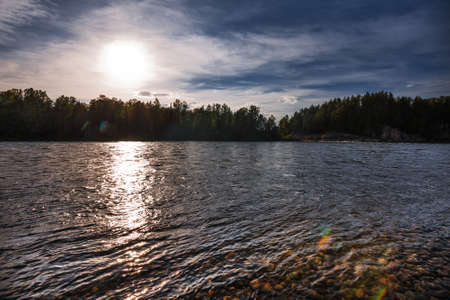 Biya river near the village of Turochak. Turochaksky district, Altai Republic, South of Western Siberia, Russia