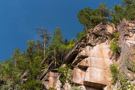 Rock Iconostasis, Turochaksky district, Altai Republic, South of Western Siberia, Russia 版權商用圖片