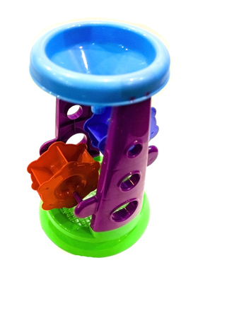 pictured in the photo Childrens Watermill Plastic Toy Stock Photo