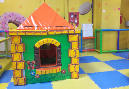 pictured in the photo toy small house in the children entertainment center