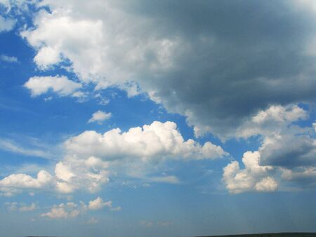 pictured in the photo Clouds and blue sky background with copy space 写真素材