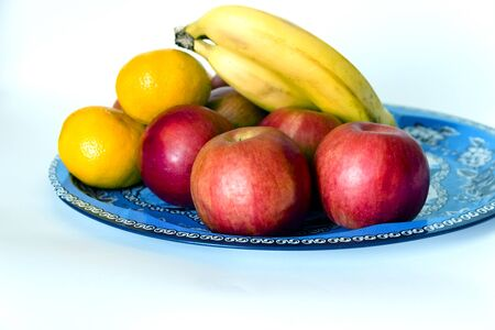 Fruits isolated on white, closeup