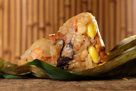 Close up of Zongzi or Traditional Chinese Sticky Rice Dumplings for dragon boat festival. Reklamní fotografie