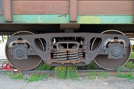 Wheelset of a freight car. Russia
